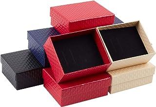 nbeads 20個セット 9.75x7.8x3.9cm ギフトボックス アクセサリー紙箱 アクセサリーケース 長方形 指輪 ピアス リング ジュエリー収納ボックス プレゼント 包装 贈り物 混合色