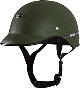 TRYFLY All Purpose Safety Helmet with Strap (Mini Green cap, Free Size)