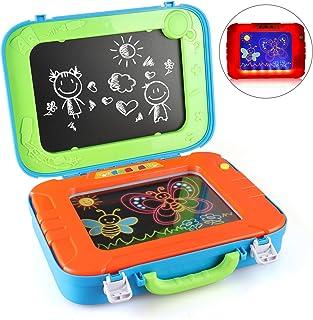 BeebeeRun Drawing Board 2 en 1 Magic Drawing Doodle con Pizarra y Pizarra para niños niñas niños pequeños cumpleaños Juguetes educativos y Regalos