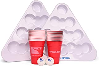 2 Racks Complete Pack OriginalCup/® Official Table Size 4 Balls Official LED Light Beer Pong Full Set 22 Red Cups Party 1 Beer Pong Table
