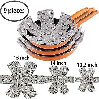 Meiso - Protectores para sartén y ollas (9 Unidades, Acolchados, de Fieltro, para Separar y Proteger Las Superficies de tu utensilio de Cocina para Evitar arañazos