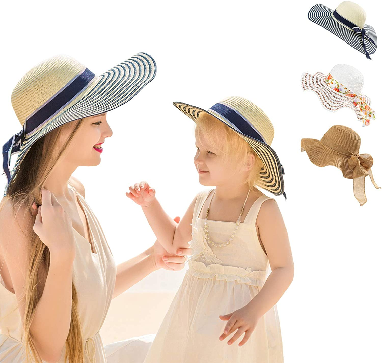 2PCS Family Matching Summer Beach quality assurance Wide price Hat Brim Parent-Child Sun