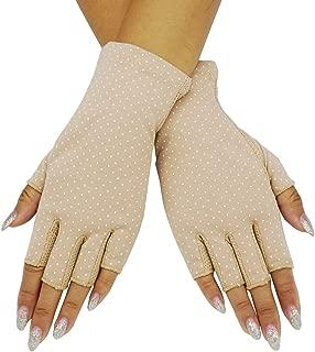 Bienvenu Women Dots Sun Uv Protection Outdoor Cotton Driving Gloves