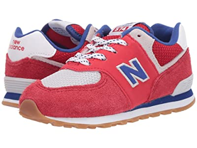 New Balance Kids 574 Core Plus (Infant/Toddler) (Team Red/Marine Blue) Boys Shoes