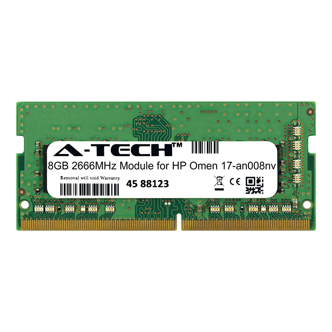 A-Tech 8GB Module for HP Omen 17-an008nv Laptop & Notebook Compatible DDR4 2666Mhz Memory Ram (ATMS280865A25978X1)