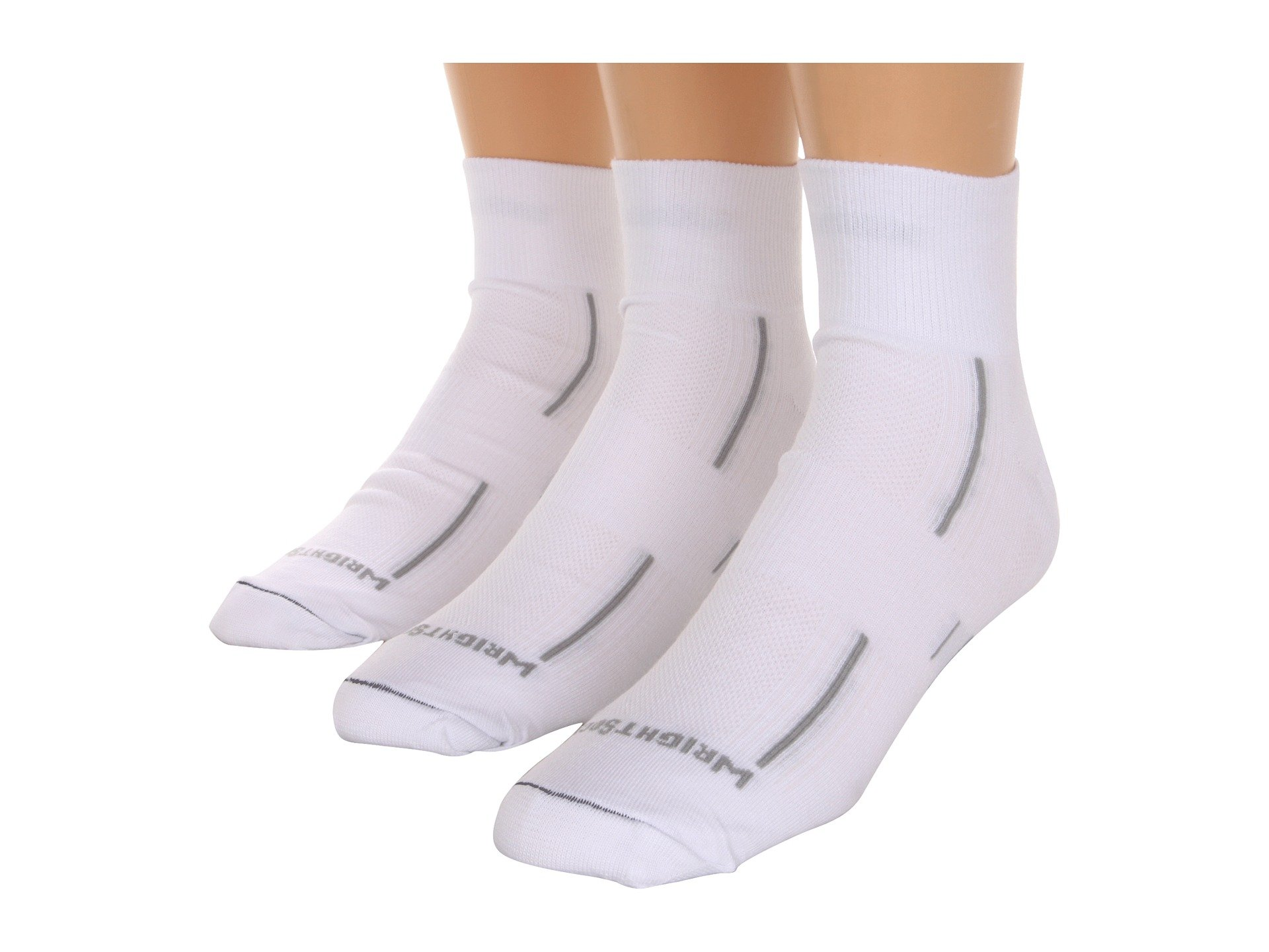 Stride White Pair Dl Pack 3 Qtr Wrightsock Uxf4qwZW