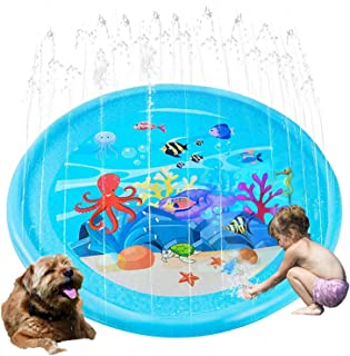 Sprinkler Pad Splash Play Mat 170cm Outdoor Water Toys, Outdoor Splash Pad Sprinkler for Kids