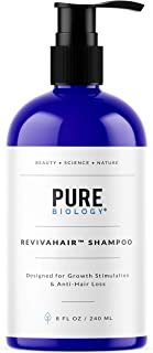 Premium Hair Growth Shampoo with Biotin, Keratin, Vitamins B + E, Natural DHT