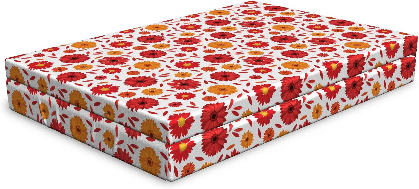 Albuquerque Mall Ambesonne Gerber Daisy Dog Bed Flowers NEW Petals and in Gerbera of