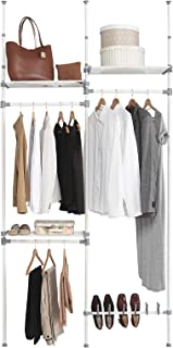 comprar comparacion Kit Closet Kit vestidor nº 4, Metal, 240/280 x 126 x 25