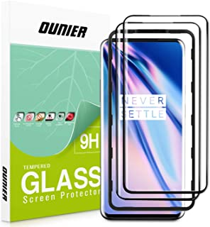 OUNIER OnePlus 7 Pro/7T Pro Screen Protector [2 Pack] [Easy Install Tray] Protective Film for OnePlus 7T Pro 5G 3D Curved Tempered Glass Dot Matrix [Fingerprint Sensor Compatible] [Full Coverage]