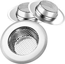 """Helect 3-Pack Kitchen Sink Strainer Stainless Steel Drain Filter Strainer with Large Wide Rim 4.5"""" for Kitchen Sinks"""