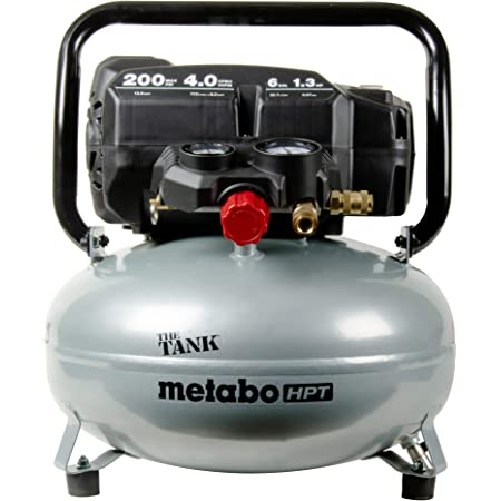 "Metabo HPT ""THE TANK"" Pancake Air Compressor, 200 PSI, 6 Gallon (EC914S)"
