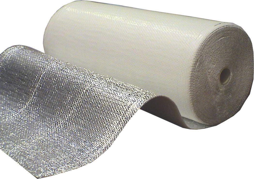 Optimer System - Aislamiento Termico Aluminio Reflexivo multicapa (2 CAPAS) de burbujas de aire y aluminio - Rollo aislante termico 42 m², para techo, pared, buhardilla y fachada - RF1