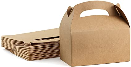 ValBox Treat Boxes 30 Pack Brown Kraft Paper Gable Gift Boxes - Goodies Favor Box for Kids' Birthday Party, Wedding, Baby ...