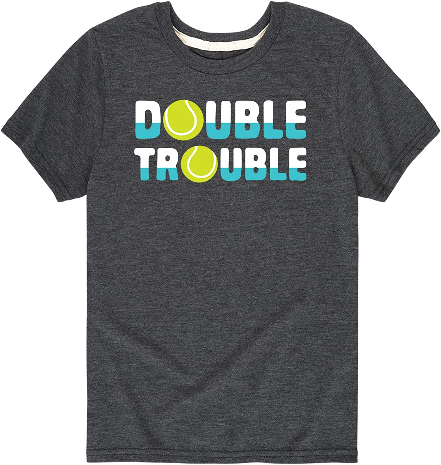 Instant Message Double Trouble-Toddler and Youth Short Sleeve Graphic T-Shirt