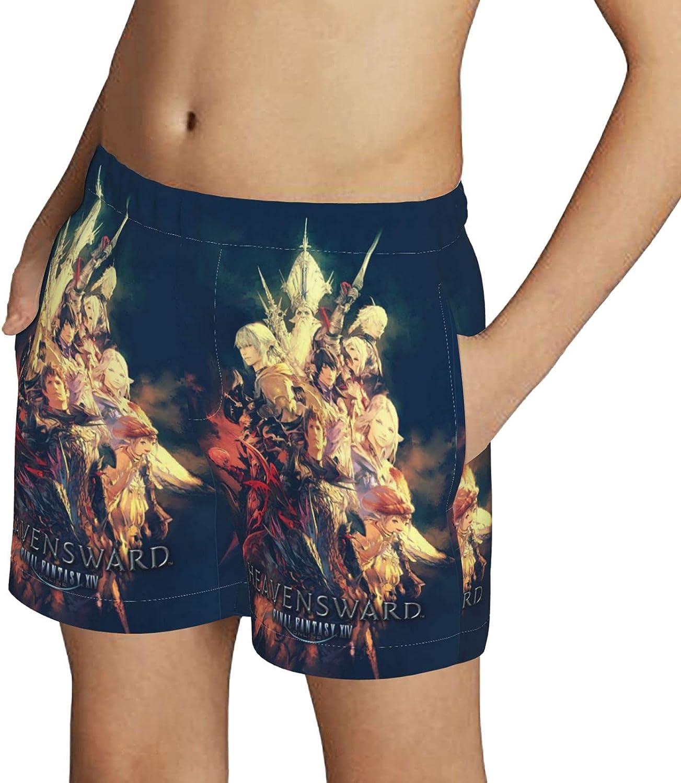 ZZHZMH Final Fantasy VII Boys Swim Trunks Drawstring Beach Shorts Swimwear Boardshort with Pockets
