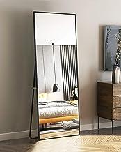 OGCAU Full Length Mirror Floor Mirror with Standing, Hanging Mirror, Dressing Mirror, Wall-Mounted Mirror, Full Body Mirro...