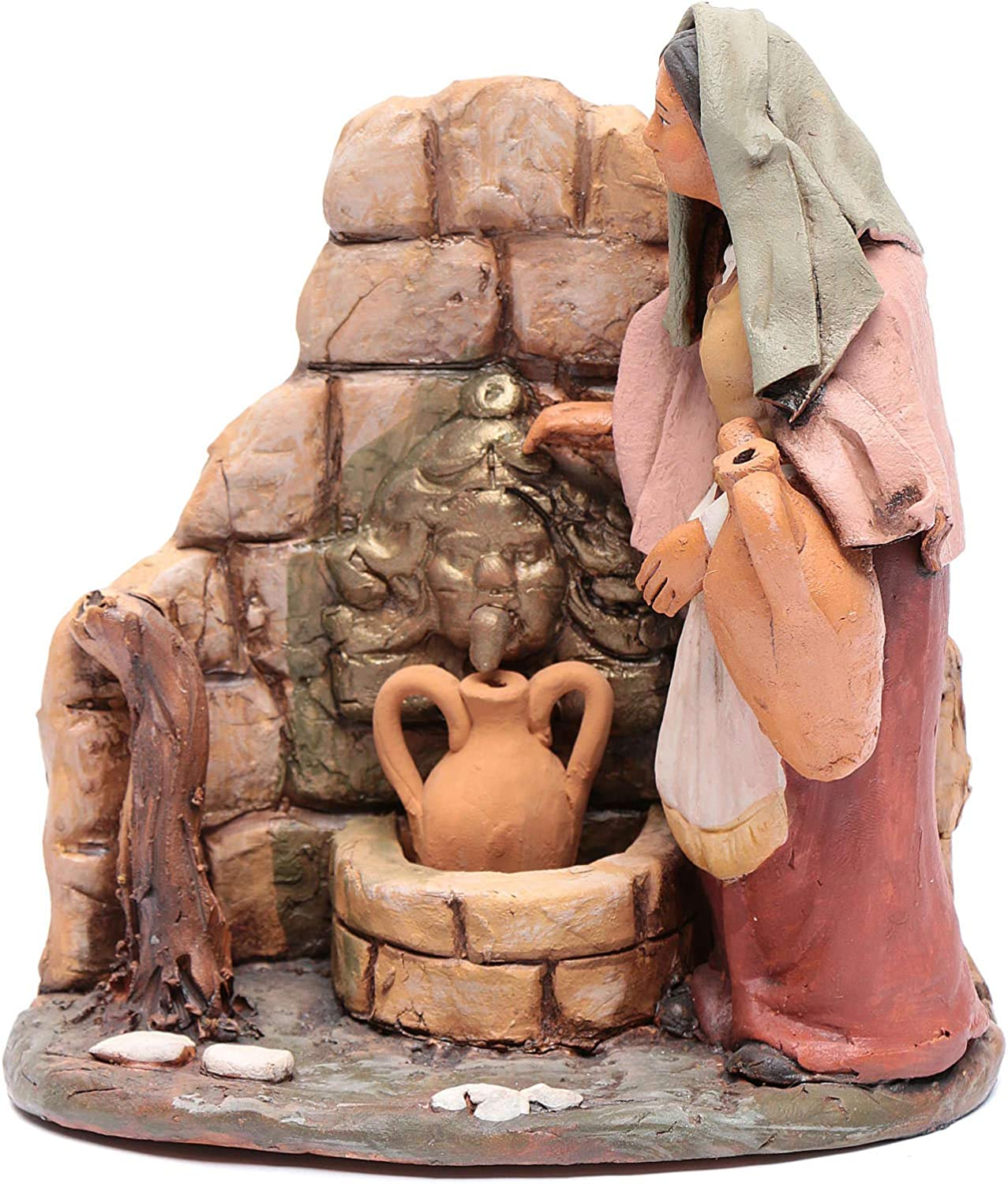 Holyart Courier shipping free shipping Woman at The famous Deruta Fountain 18cm