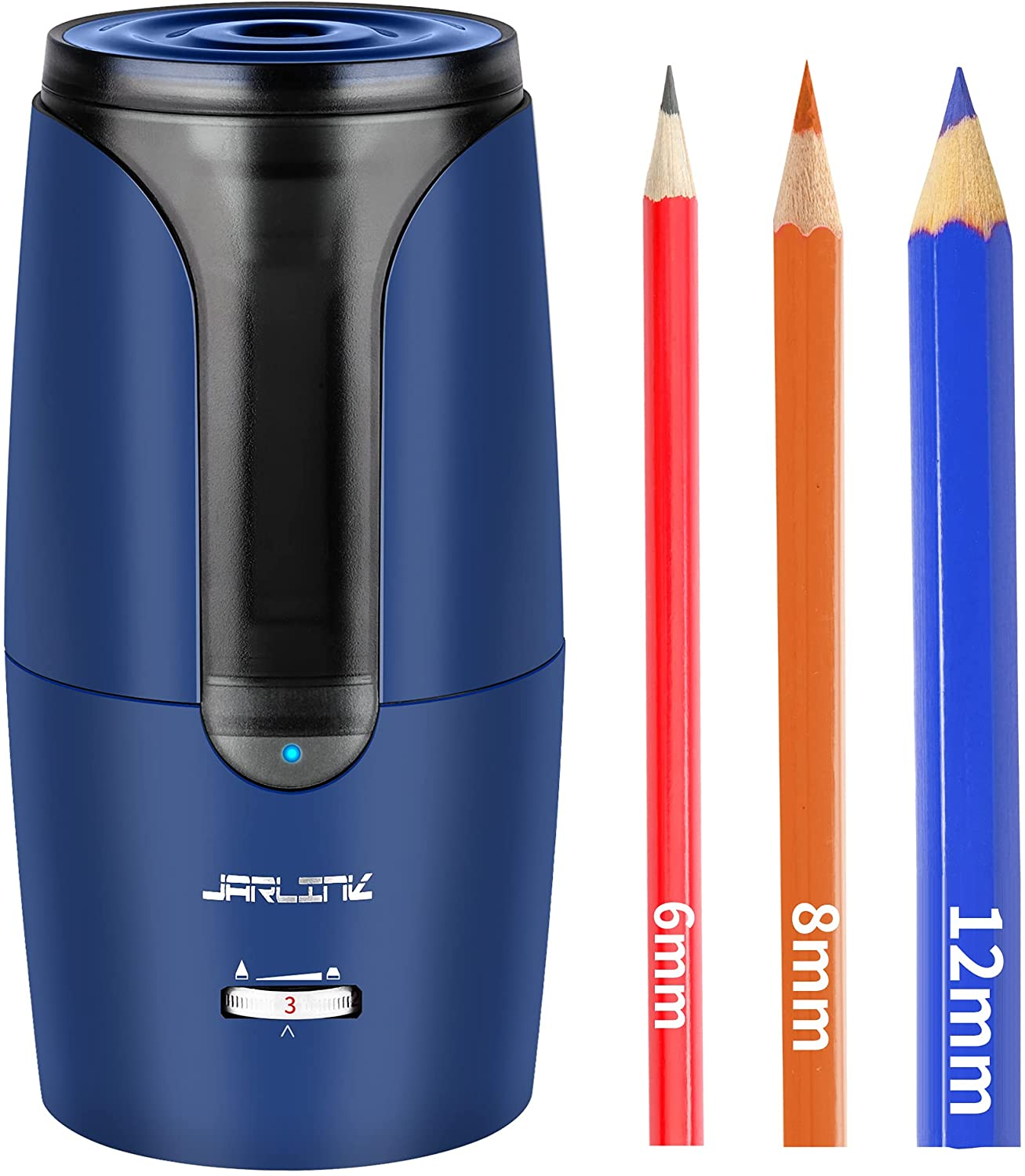 JARLINK Electric Pencil Sharpener Long-awaited New product La Rechargeable Auto-Stop and