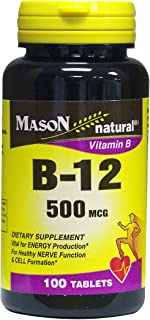 MASON NATURAL, Mason B-12 500 Mcg Tablets, 100 per Bottle