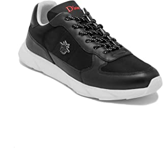 Dior Homme Men's Leather/Canvas Bee Runner Shoes Black