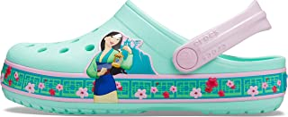 Crocs Girl's CrocsFunLab Disney Mulan K Clogs, New Mint