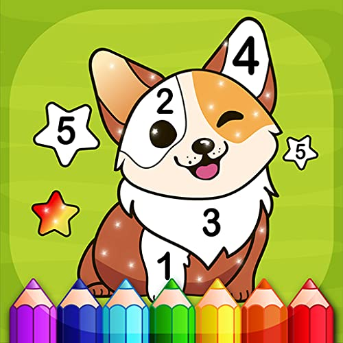 Magic Color- libro para colorear para niños por números