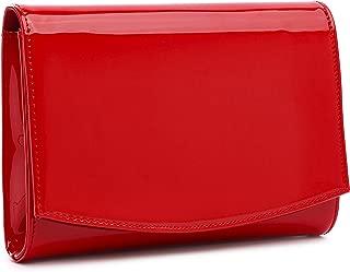 Patent Leather Clutch Women Evening Wallets Classic Black Chain Purse Elegant Solid Color Shoulder Bags