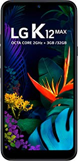 Celular LG K12 MAX, LG, LMX520BMW.ABRABK, 32GB, 6.26'', Preto