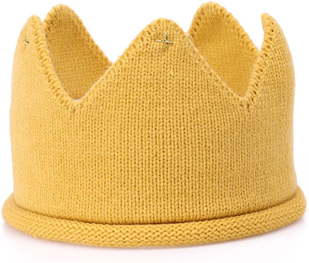 Baby Birthday Party Crown Headband Hat, Knitted Hat Warm Beanie Cap.(LDZ28)