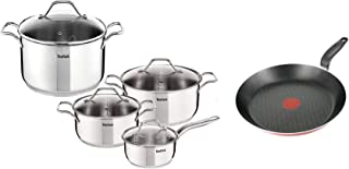 Tefal Intuition Cooking Set of 8 Pieces - A702S884 + Tefal 20cm Just Chef Frypan - A2240262