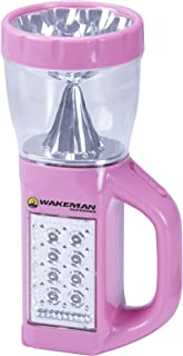 3 in 1 LED Lantern, Flashlight and Panel Light, Lightweight Camping Lantern By Wakeman Outdoors (For Camping Hiking Reading and Emergency) (Pink)