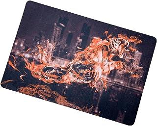 60cm X 40cm X 1cm Fire Tiger Motorcycle Outdoor Doormat Backing Non Slip Door Mat for Small Front Door Inside Floor Dirt T...