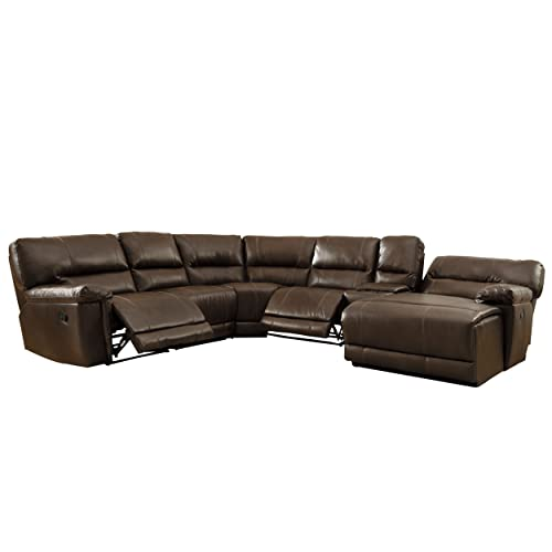 Leather Reclining Sectional: Amazon.com