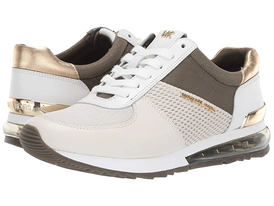 MICHAEL Michael Kors Allie Extreme Trainers (Cream/Pale Gold Small Air Mesh/Oval Net Mesh/Vachetta) Women