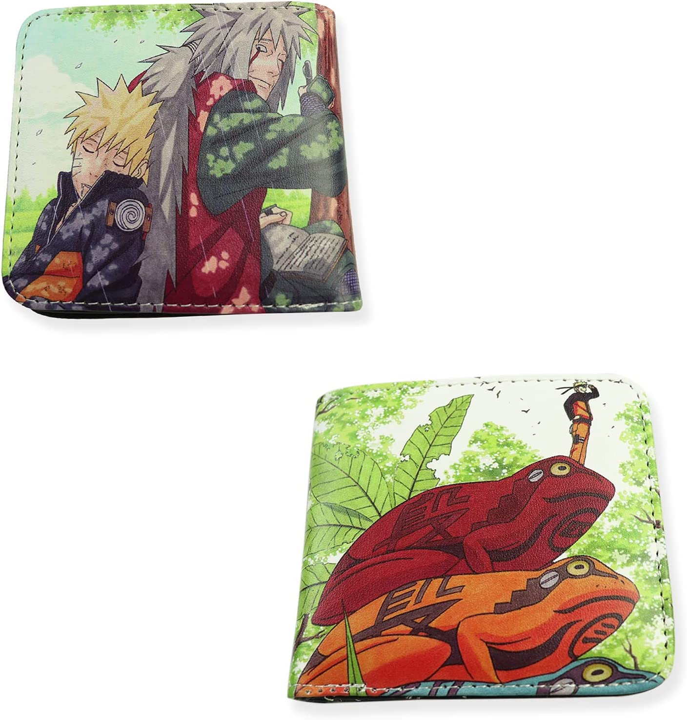 Anime Wallet Anime Card Holder Purse Leather Bifold Multi Color Birthday Gift