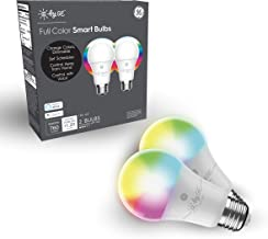 C by GE A19 Smart LED Bulbs - Full Color Changing Light Bulbs with App Control, 2-Pack, Smart Light Bulb Works with Alexa ...