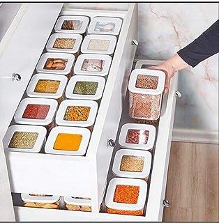 QFWN 12 PC Boîte de Rangement de Haute qualité Coin de l'organisateur Cuisine et Garde-Manger Spice Légumèmes Bouteille (C...