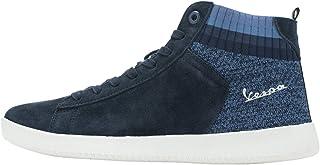 Vespa - Sneaker in Pelle Scamosciata New Wave con Dettagli in Tessuto ed alla Maglia Elastica per Uomo