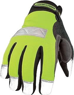 Youngstown Glove 08-3710-10-M Safety Lime Waterproof Winter Glove Medium