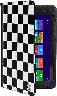 """まったく新しいブラックホワイトチェッカースマートデザインカバーケースfor Kindle Fireタブレット7インチ/ Fire HD 8タブレット8"""" Wi - Fi 8GB 16GB Withstand"""