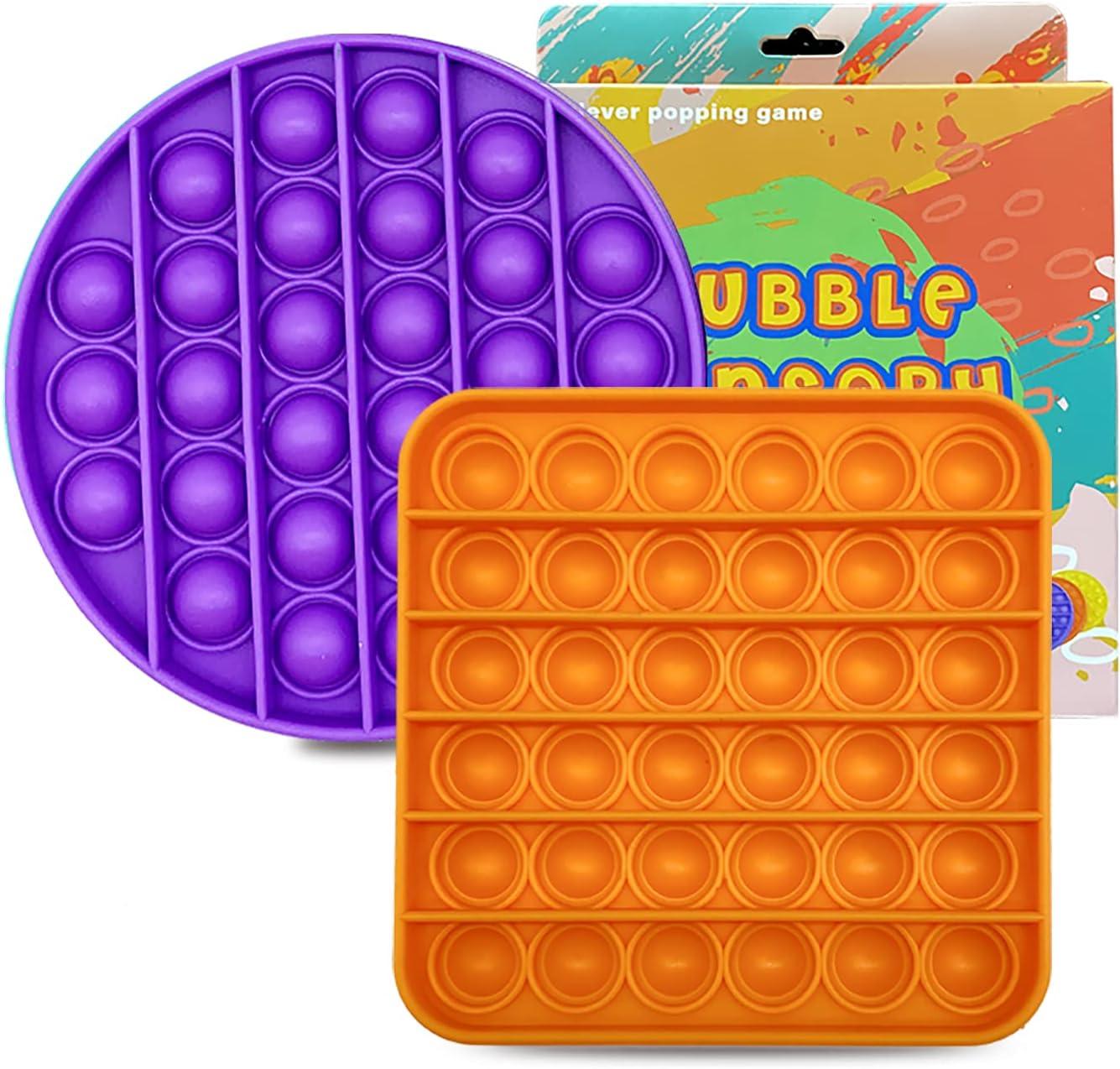 LUCO 2 Pack Pop Fidget Sensory Bubble Push Max 66% OFF Toy Max 46% OFF -