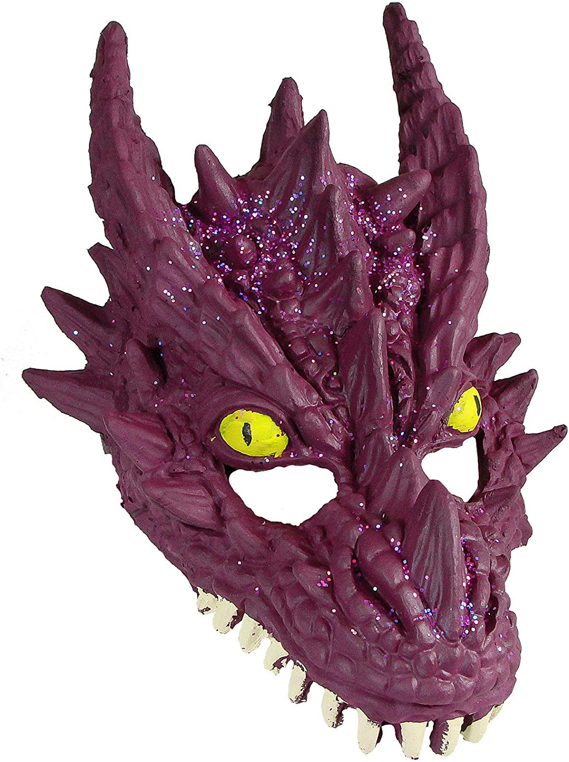 HMS Unisex-Adult's Supersoft Crystal Dragon Mask-PU, Purple, One Size