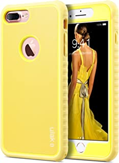 ULAK iPhone 7 Plus Case,Slim Shockproof Flexible TPU Bumper Case Durable Anti-Slip Lightweight Front and Back Hard Protective Safe Grip Cover for iPhone 7 Plus 5.5 inch,Yellow