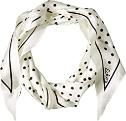 Dotty Silk Diamond Shaped Scarf