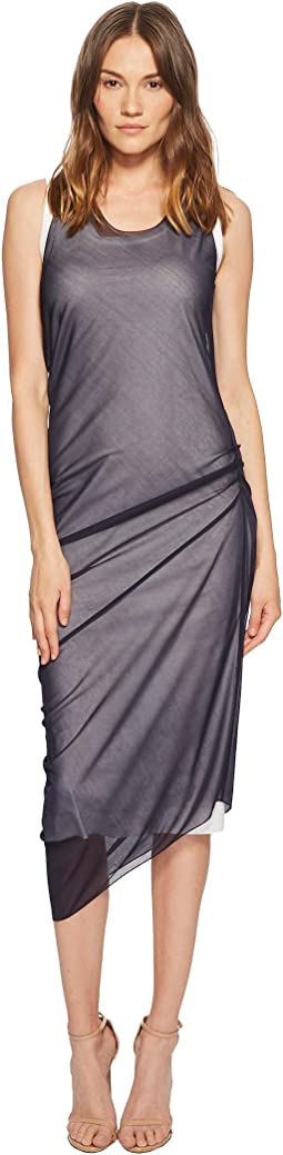Sportmax - Ode Sheer Overlay Sleeveless Dress