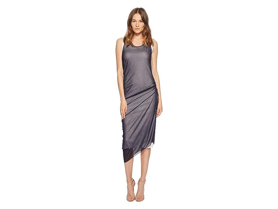 Sportmax Ode Sheer Overlay Sleeveless Dress (White/Blue) Women