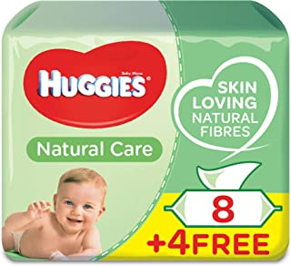 HUGGIES BABY WIPES ALOE VERA,  2+1 Free,  56s x 12 (672 Wipes)
