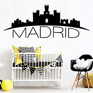 Madrid Wallpaper Self Adhesive Waterproof Art for Living Rooms Decoration Wall Decals Decor Vinyl Sticker IR5190